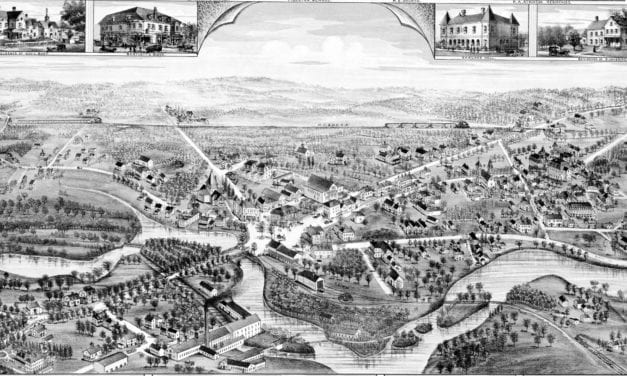 Beautifully detailed map of Mattapan, Mass in 1890