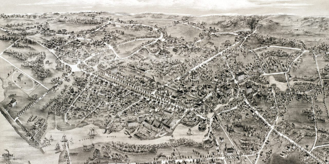Beautiful vintage map of Milford, Connecticut from 1882