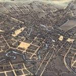 Beautifully restored map of San Antonio, TX from 1873