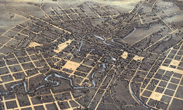 Beautifully detailed map of San Antonio, Texas from 1873