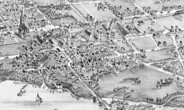 Beautifully restored map of Wallingford, Connecticut in 1881