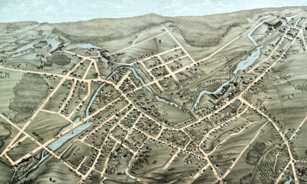 Beautifully detailed map of Webster, Mass in 1878
