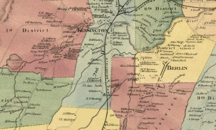 Historic landowners map of Berlin, CT from 1869