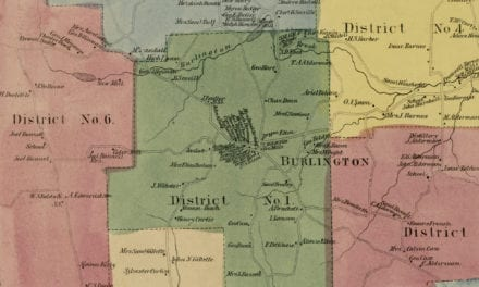 Historic landowners map of Burlington, CT from 1869