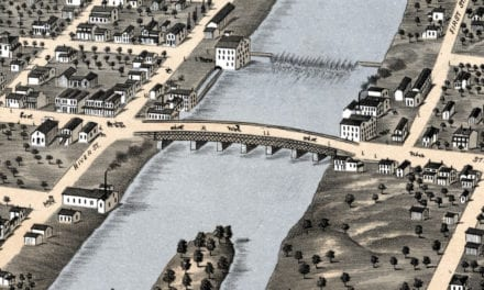 Beautifully restored map of Geneva, Illinois from 1869