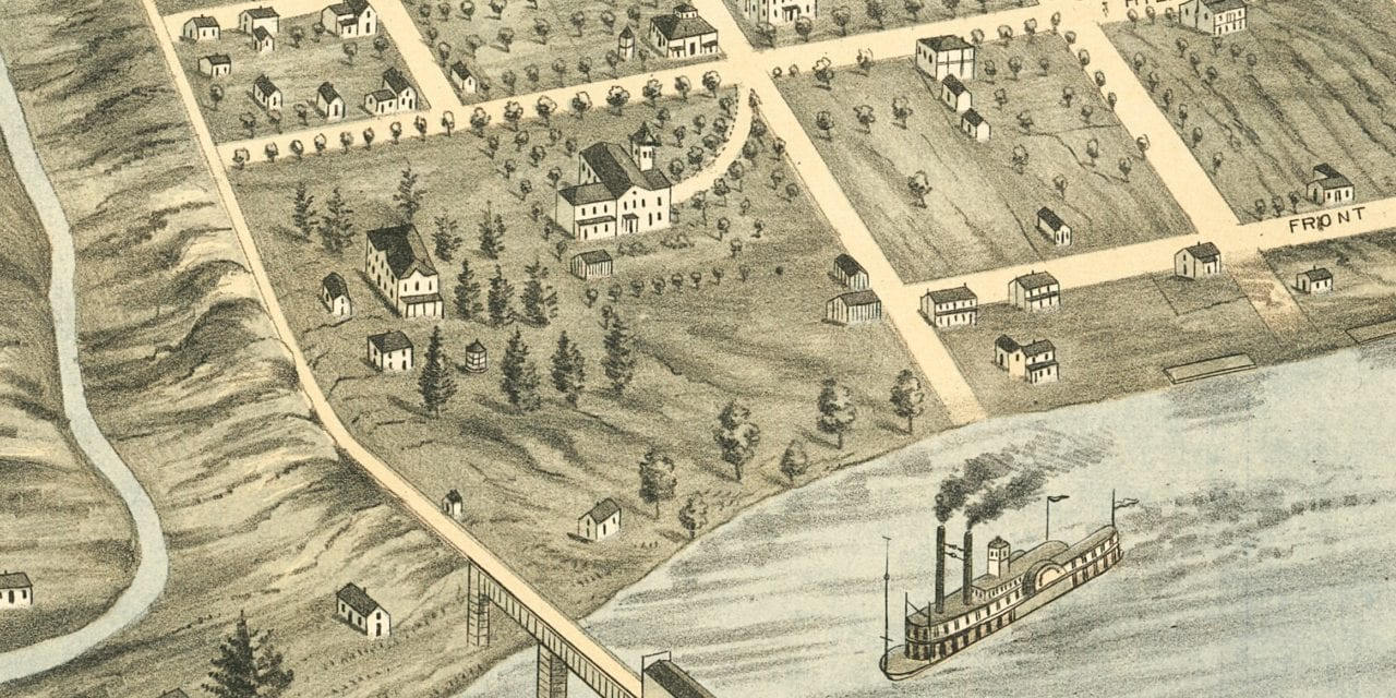 Beautifully restored map of Knoxville, TN from 1871