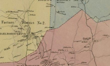 Historic landowners map of Marlborough, CT from 1869