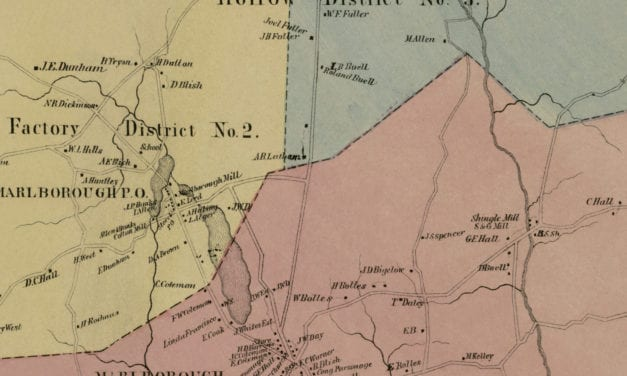 Historic landowners map of Marlborough, CT from 1869