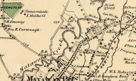 Beautifully restored map of Matavan, NJ from 1873