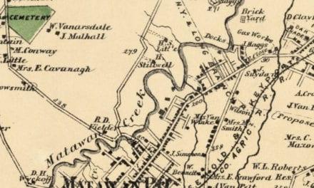 Beautifully restored map of Matavan, NJ from 1873
