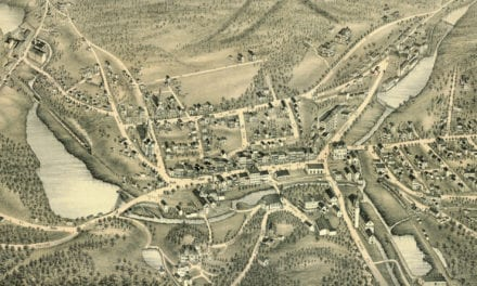 Beautifully restored map of Stafford Springs, CT from 1878