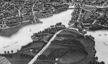 Beautifully restored map of Whitewater, Wisconsin from 1885
