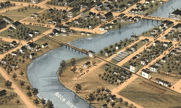 Beautifully restored map of Fort Atkinson, WI from 1870