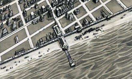 Beautifully restored map of Ocean City, NJ from 1903