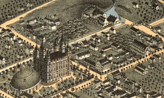 Beautifully detailed map of Salt Lake City, Utah from 1870