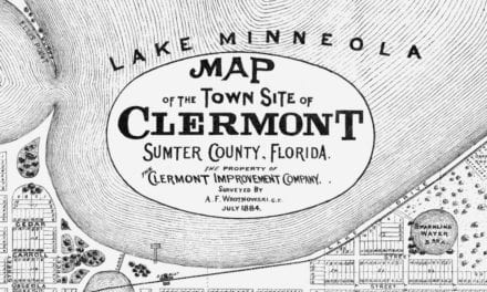 Beautifully detailed map of Clermont, Florida from 1884