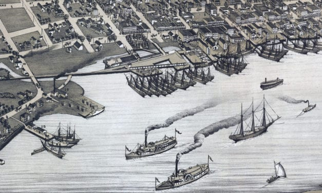 Beautifully restored map of Jacksonville, Florida from 1876