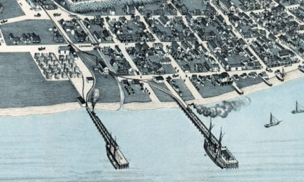 Beautifully restored map of Corpus Christi, Texas from 1887