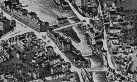 Beautifully restored map of Exeter, New Hampshire from 1884