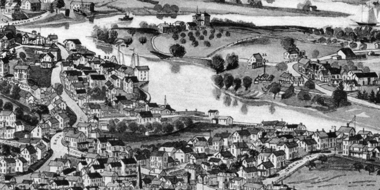 Beautifully restored map of Ipswich, Massachusetts from 1893