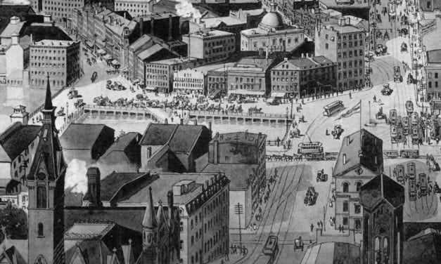 Beautifully detailed view of Providence, Rhode Island in 1894