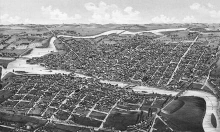 Beautifully restored map of Watertown, Wisconsin from 1885