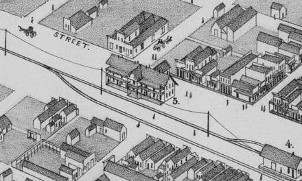 Beautifully restored map of Abilene, TX from 1883