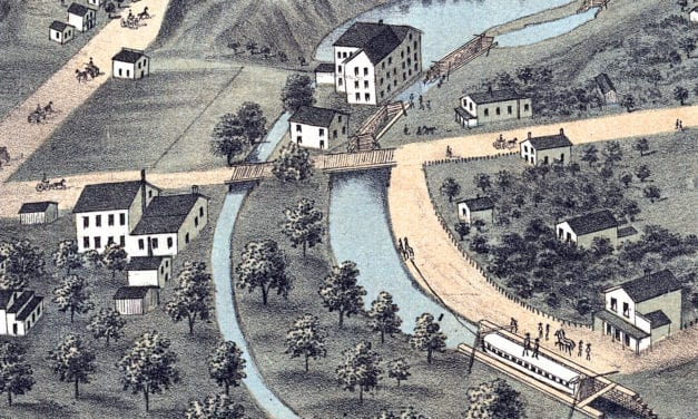 Beautifully restored map of Akron, Ohio from 1870