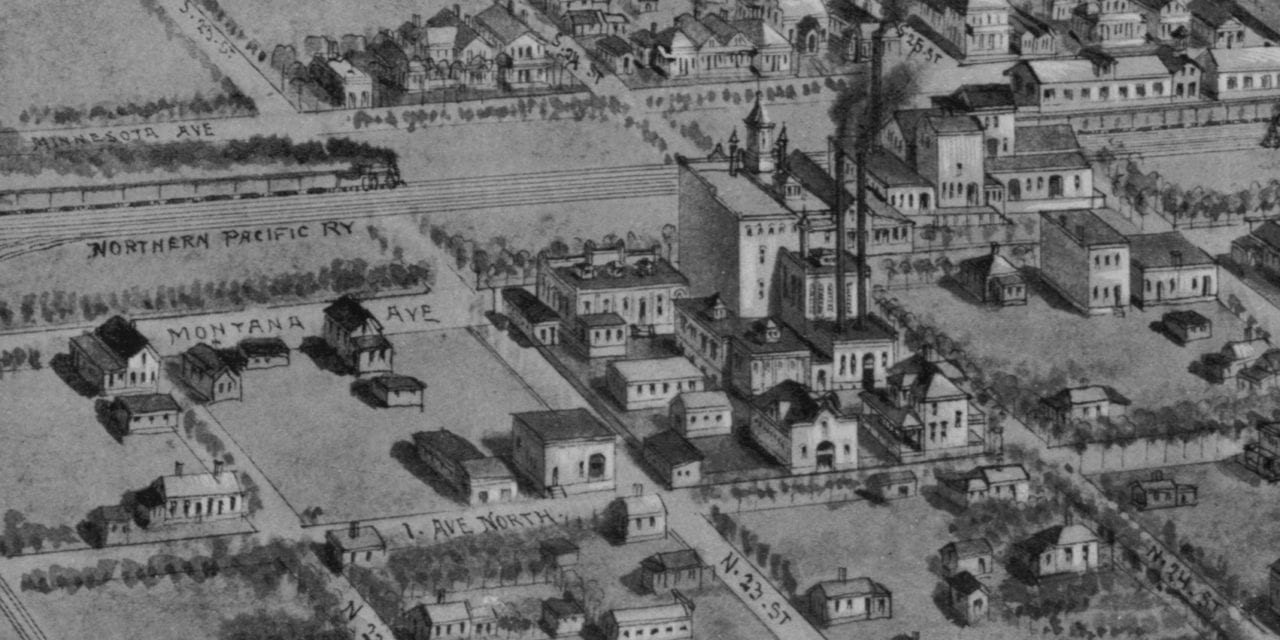 Beautifully detailed map of Billings, Montana from 1904
