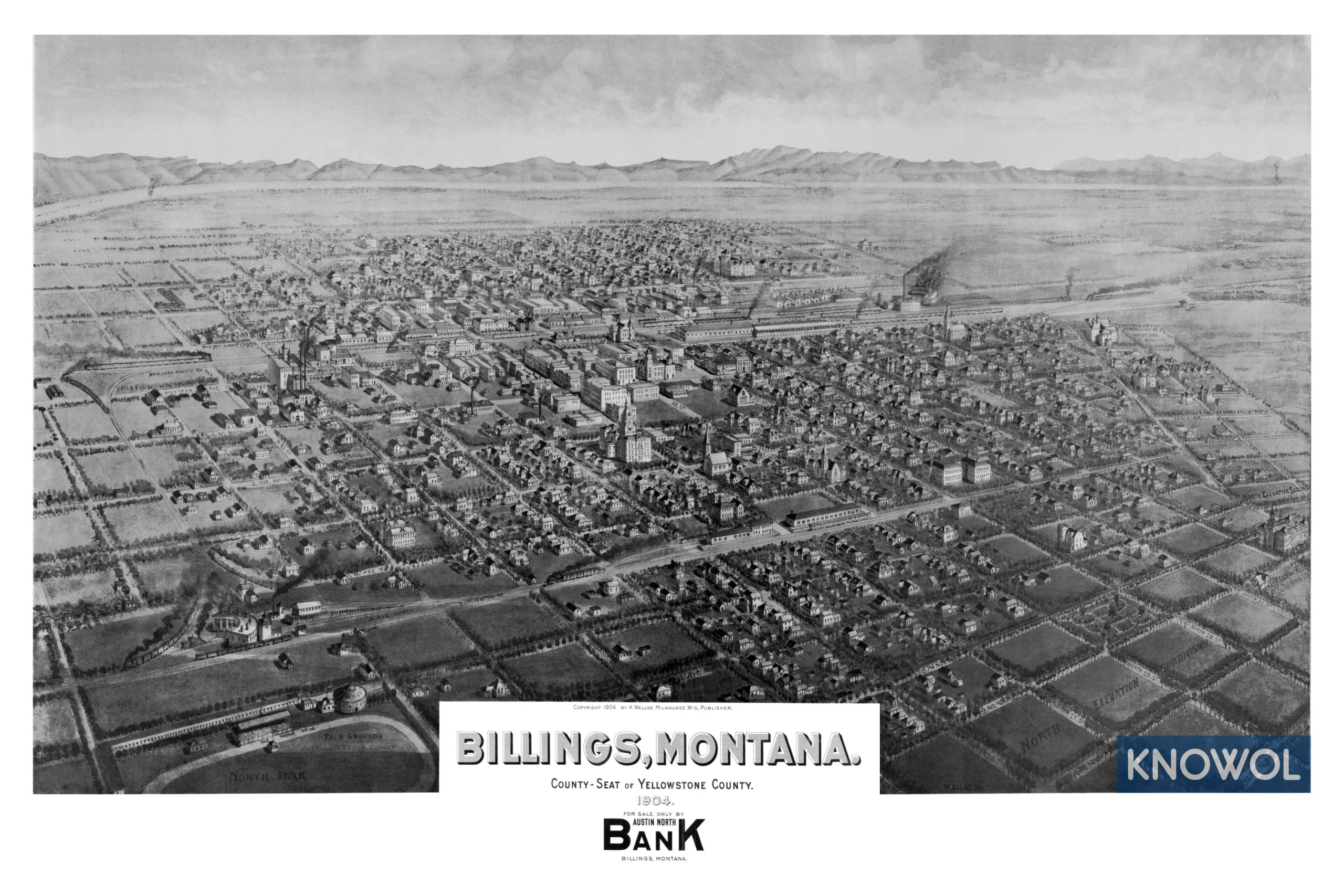 Beautifully detailed map of Billings, Montana from 1904 - KNOWOL