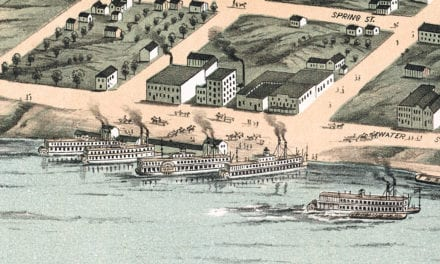 Beautifully restored map of Clarksville, TN from 1870