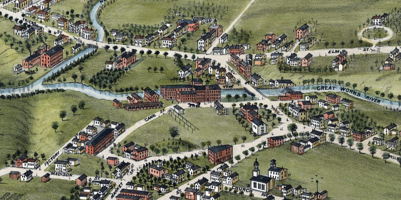 Beautifully Restored Map of North Berwick, Maine from 1877