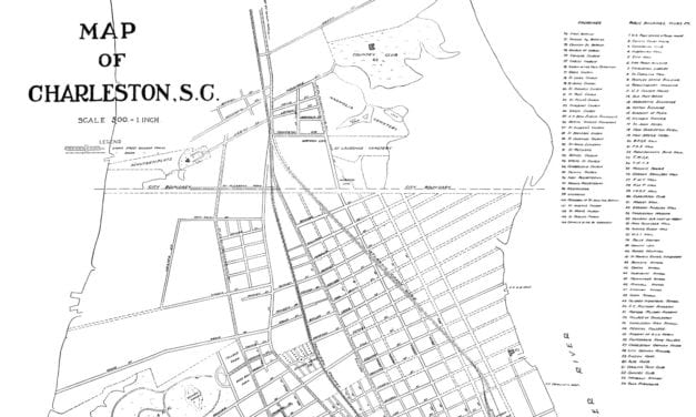 Historic Street Map of Charleston, South Carolina from 1912