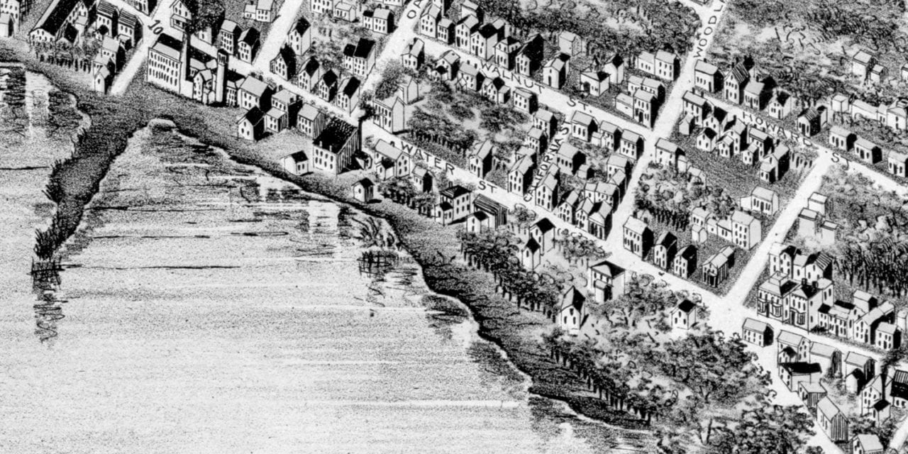 Beautifully restored map of Newburyport, MA from 1894