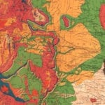 Beautifully restored Geological Map of the United States from 1872