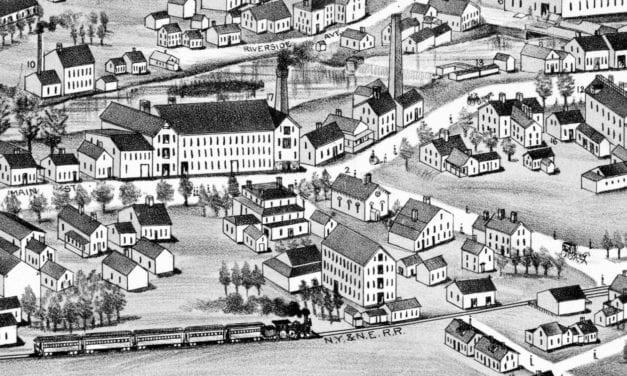 Beautifully restored map of Washington Village, R.I. from 1888