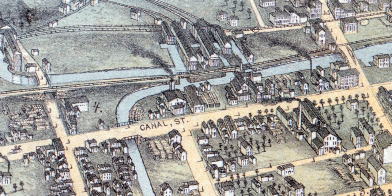 Beautifully restored map of Wilkes-Barre, PA from 1872