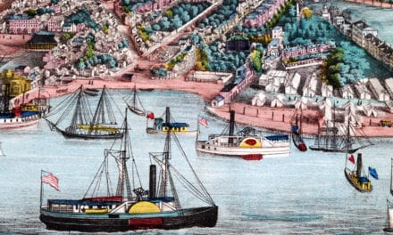 Historic bird's eye view of Annapolis, Maryland from 1864