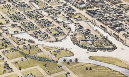 Historic Map of Stockton, California shows the city in 1870
