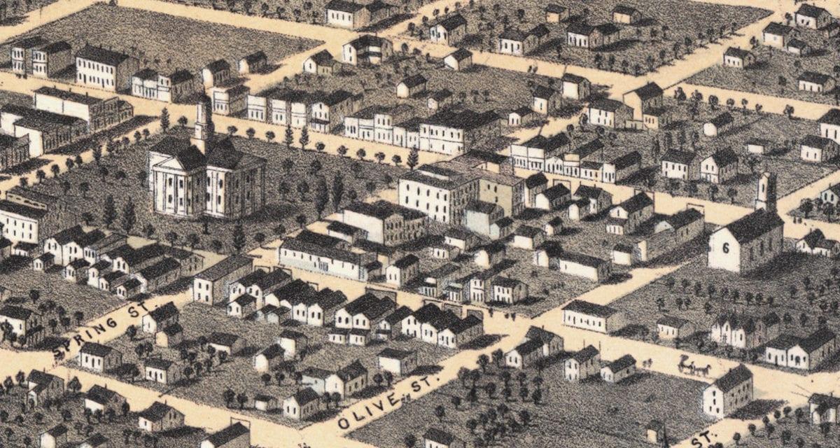 Beautifully restored map of Newton, Iowa from 1868