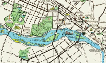 Beautifully Illustrated Pictorial Map of Richmond, VA from 1937