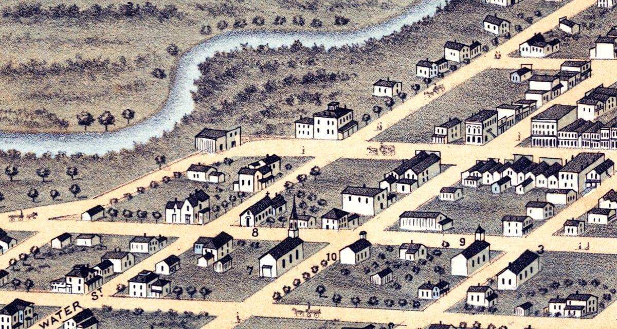 Beautifully restored map of Austin, Minnesota from 1870