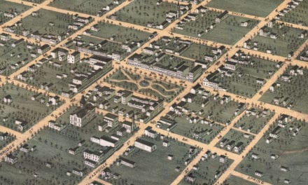 Beautifully restored map of Bowling Green, Kentucky from 1871