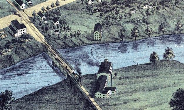 Beautifully restored map of Warren, Ohio from 1870