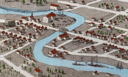 Beautifully restored map of Green Bay, Wisconsin from 1867