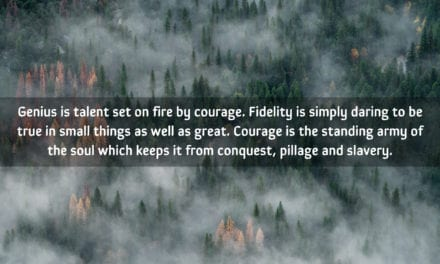 Genius is talent set on fire by courage…