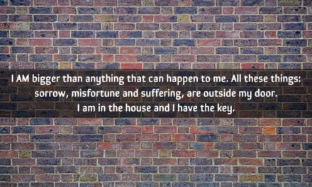 I AM bigger than anything that can happen to me…