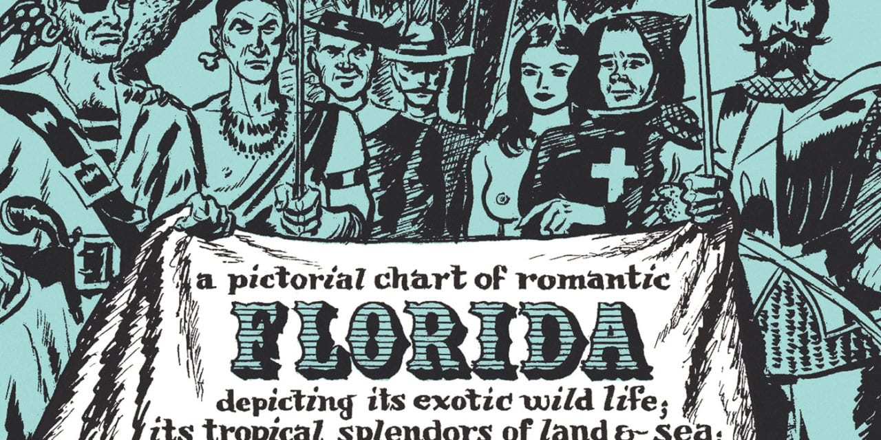 Florida Romance Map, a one page history dedicated to the Old Timers, 1951