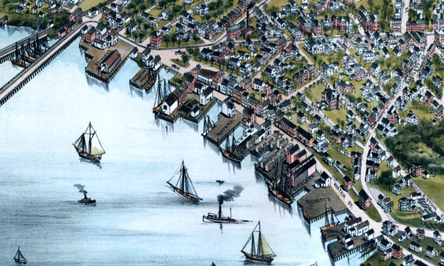Vintage Map of Beverly, Massachusetts from 1886